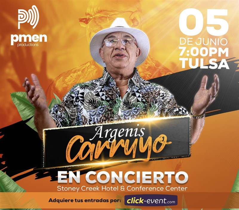Obtener información y comprar entradas para Argenis Carruyo - En Concierto - Oklahoma El Volcán de America Por Primera Vez en Oklahoma en www.click-event.com.