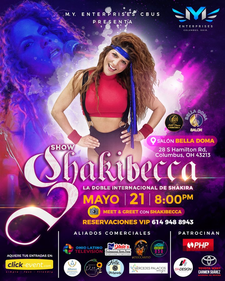 Get Information and buy tickets to SHOW SHAKIBECCA- Columbus OH La Doble Internacional de Shakira on www.click-event.com
