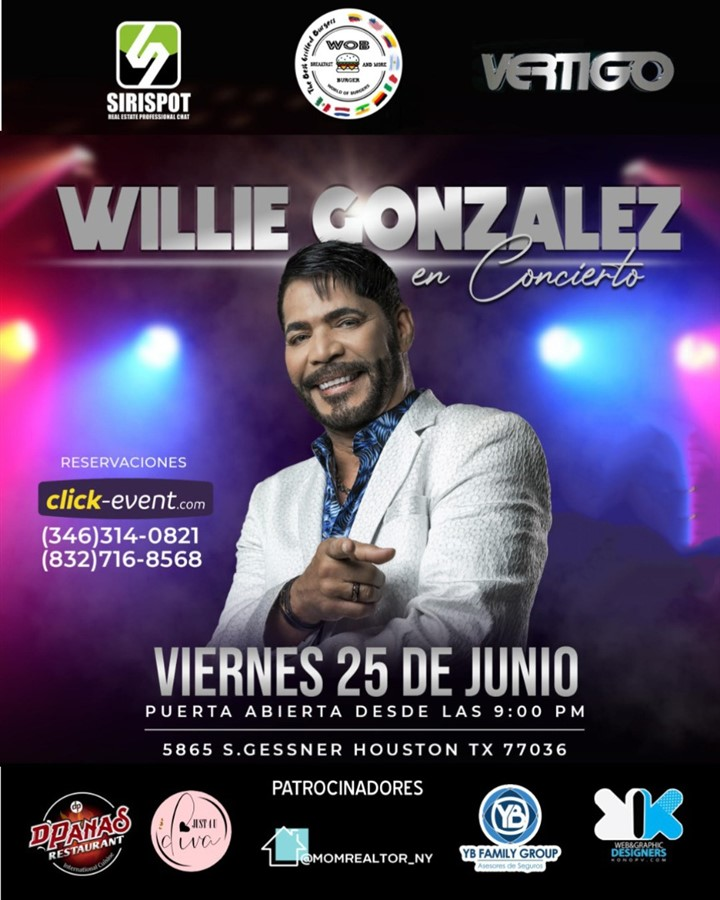Obtener información y comprar entradas para Willie Gonzalez en concierto en Houston  en www.click-event.com.