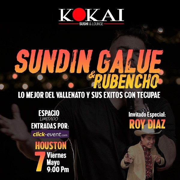 Get Information and buy tickets to Sundin Galue & Rubencho Reg $30 on www.click-event.com