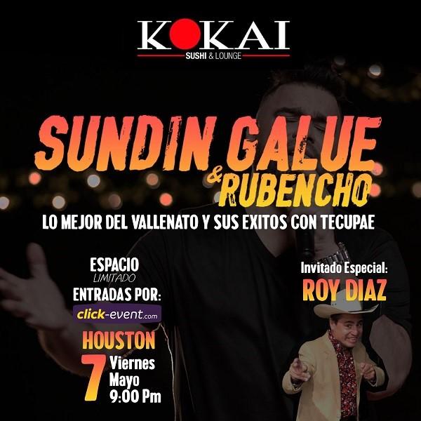 Obtener información y comprar entradas para Sundin Galue & Rubencho Reg $30 en www.click-event.com.