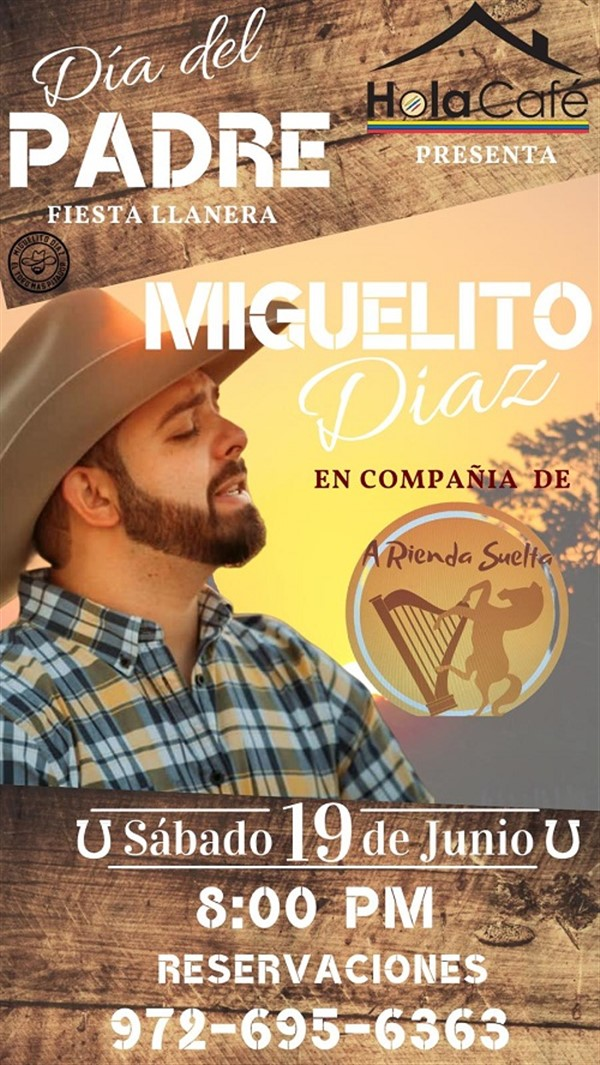 Get Information and buy tickets to Miguelito Diaz - Dallas TX  on www.click-event.com