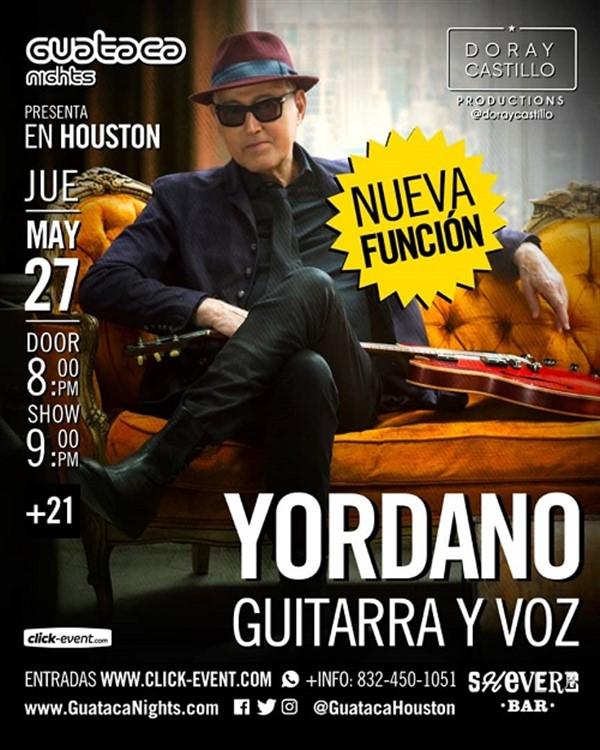 Get Information and buy tickets to Yordano Guitarra y Voz - Katy TX Nueva Funcion on www.click-event.com