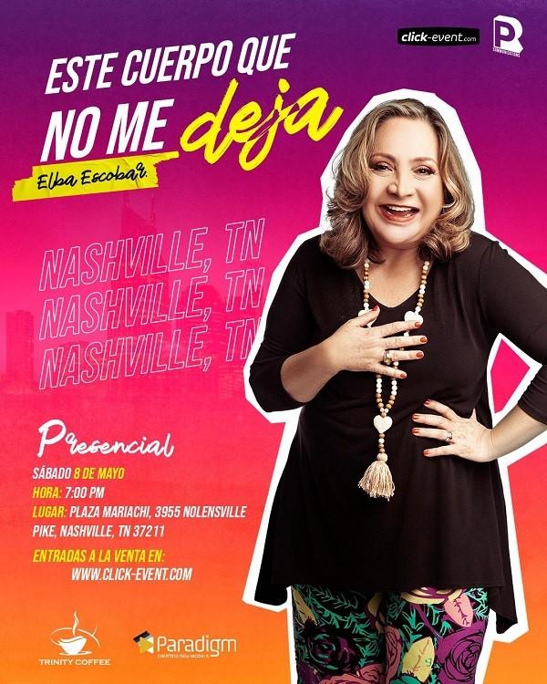 Get Information and buy tickets to Este Cuerpo que No Me Deja con Elba Escobar Reg $40 on www.click-event.com