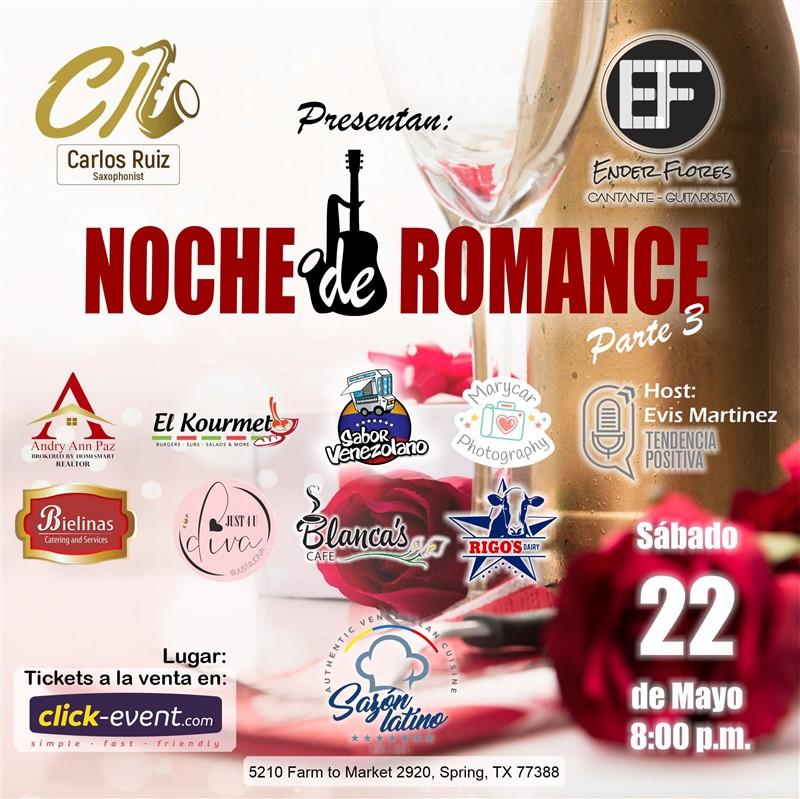 Get Information and buy tickets to Noche de Romance 3  - Houston Celebrando el mes de Las Madres on www.click-event.com