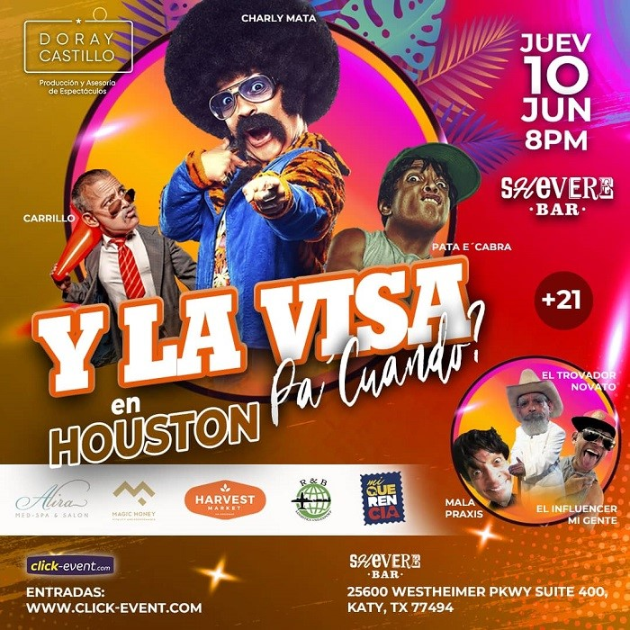 Get Information and buy tickets to Y La Visa pa cuando?  Charly Mata - Houston  on www.click-event.com