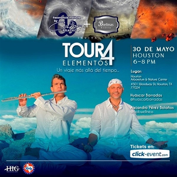 Get Information and buy tickets to Tour 4 Elementos - Alejandro Pérez Bolaños, Huascar Barradas - Houston  on www.click-event.com