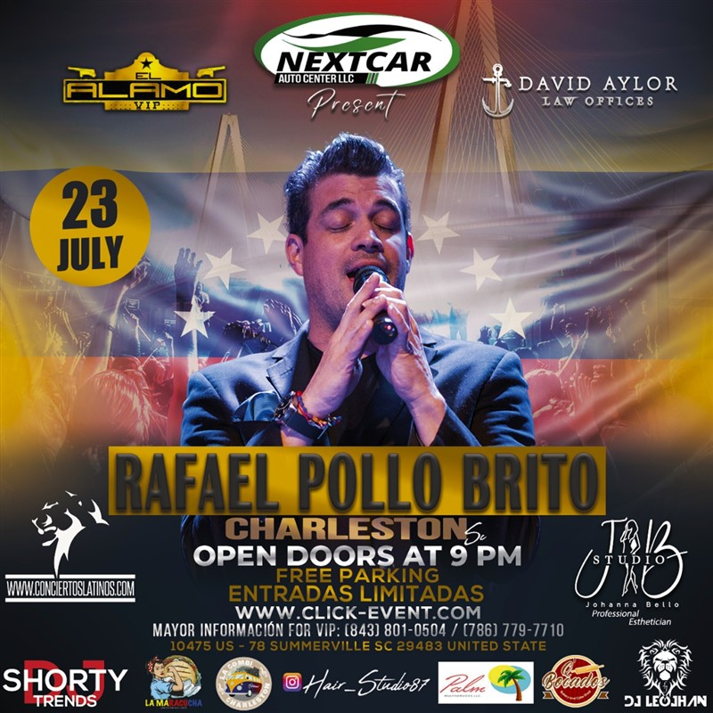 Get Information and buy tickets to Rafael Pollo Brito - Summerville SC  on www.click-event.com