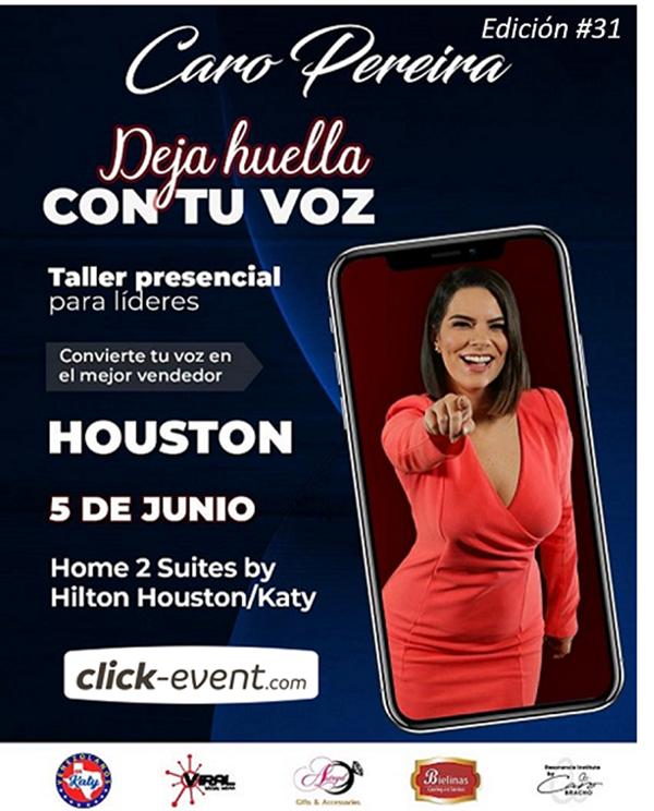 Get Information and buy tickets to Deja huella con tu voz - Caro Pereira - Houston  on www.click-event.com