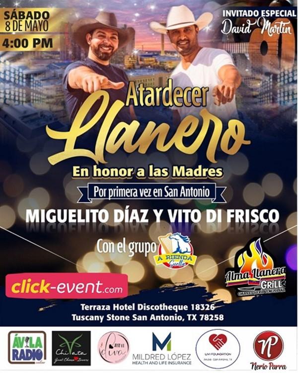Get Information and buy tickets to Atardecer Llanero - Miguelito Diaz y Vito Di Frisco  on www.click-event.com