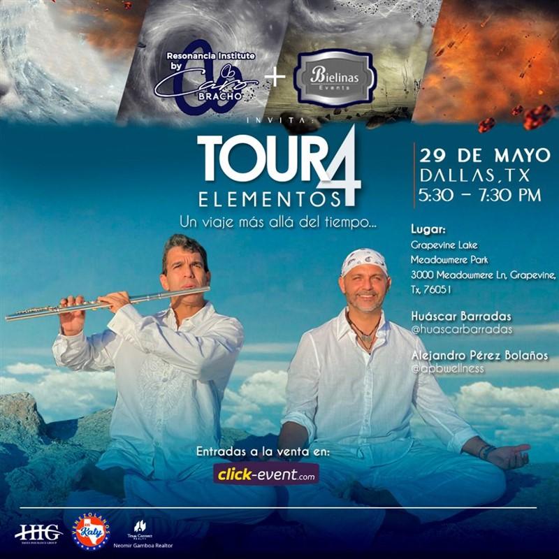 Get Information and buy tickets to Tour 4 Elementos - Alejandro Pérez Bolaños, Huascar Barradas - Dallas Tx  on www.click-event.com
