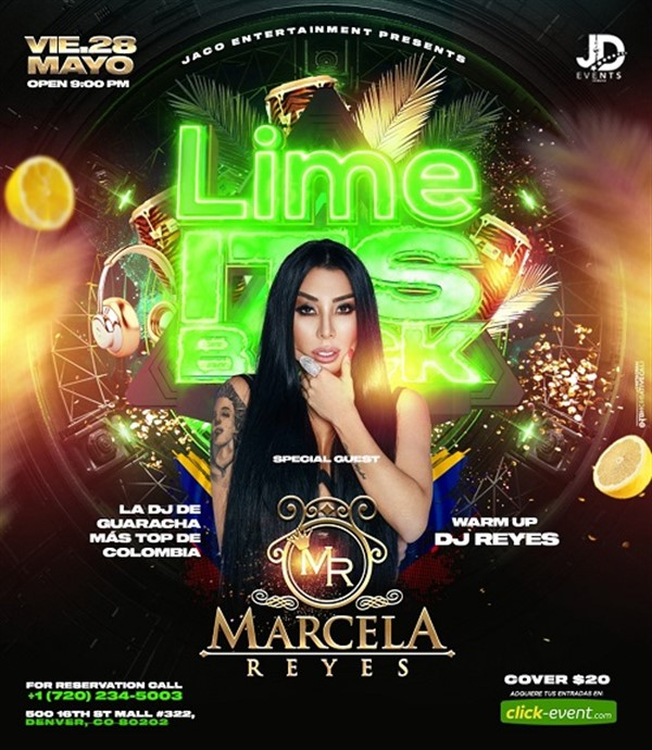 Get Information and buy tickets to Marcela Reyes  on www.click-event.com