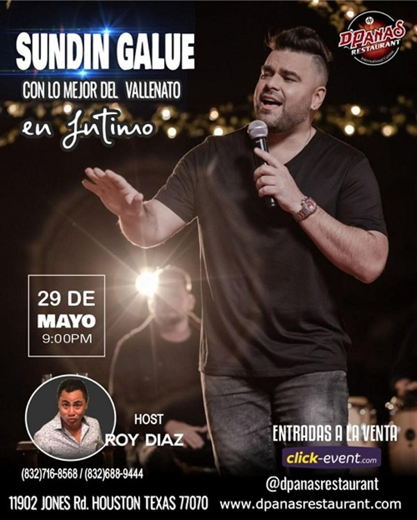 Get Information and buy tickets to Sundin Galue cpn el mejos vallenato - Houston  on www.click-event.com