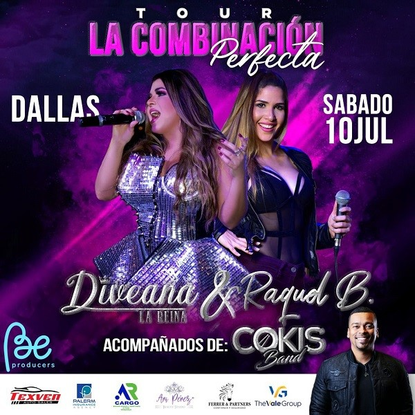 Get Information and buy tickets to La Combinación Perfecta - Diveana & Raquel B - Cokis Band  on www.click-event.com