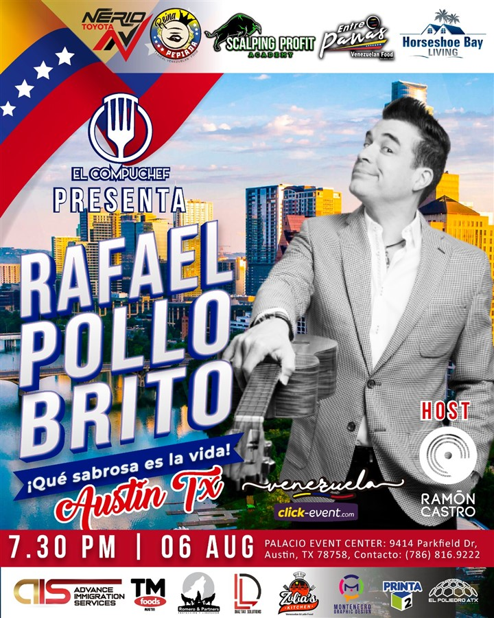 Get Information and buy tickets to Rafael Pollo Brito - Austin TX  on www.click-event.com