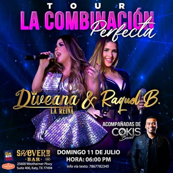 Get Information and buy tickets to La combinación Perfecta - Diveana, Raquel Bustamante - Houston TX  on www.click-event.com