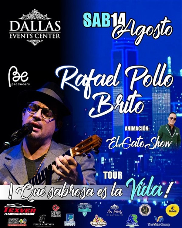 Get Information and buy tickets to Rafael Pollo Brito - Dallas TX  on www.click-event.com
