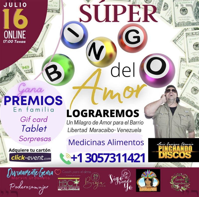 Get Information and buy tickets to Super Bingo del Amor  on www.click-event.com