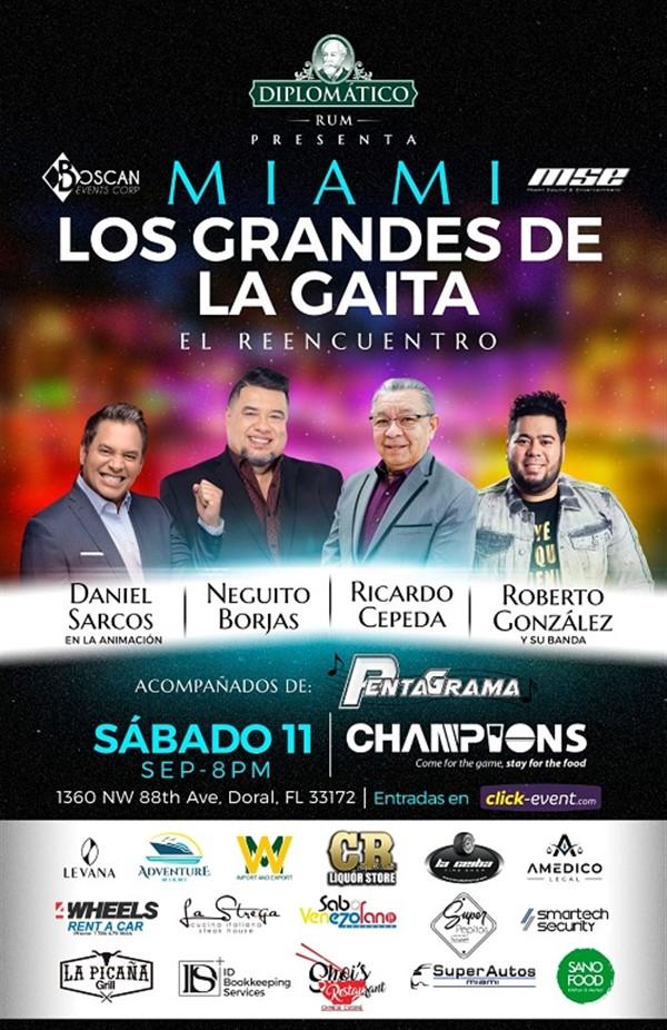 Los Grandes de la Gaita - Neguito Borjas, Ricardo Cepeda, Roberto González - Miami Fl