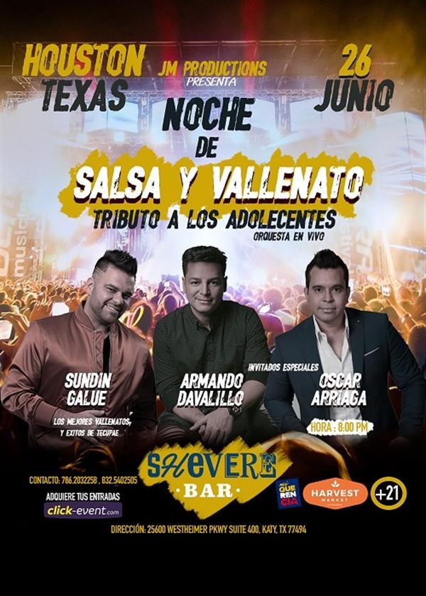 Get Information and buy tickets to Noche de Salsa y Vallenato - Katy TX  on www.click-event.com