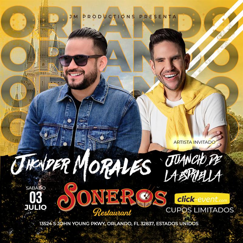 Jhonder Morales en concierto Orlando FL