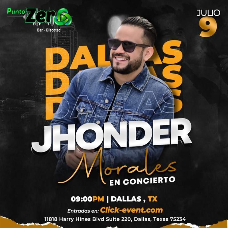 Get Information and buy tickets to Jhonder Morales en Concierto Dallas TX  on www.click-event.com