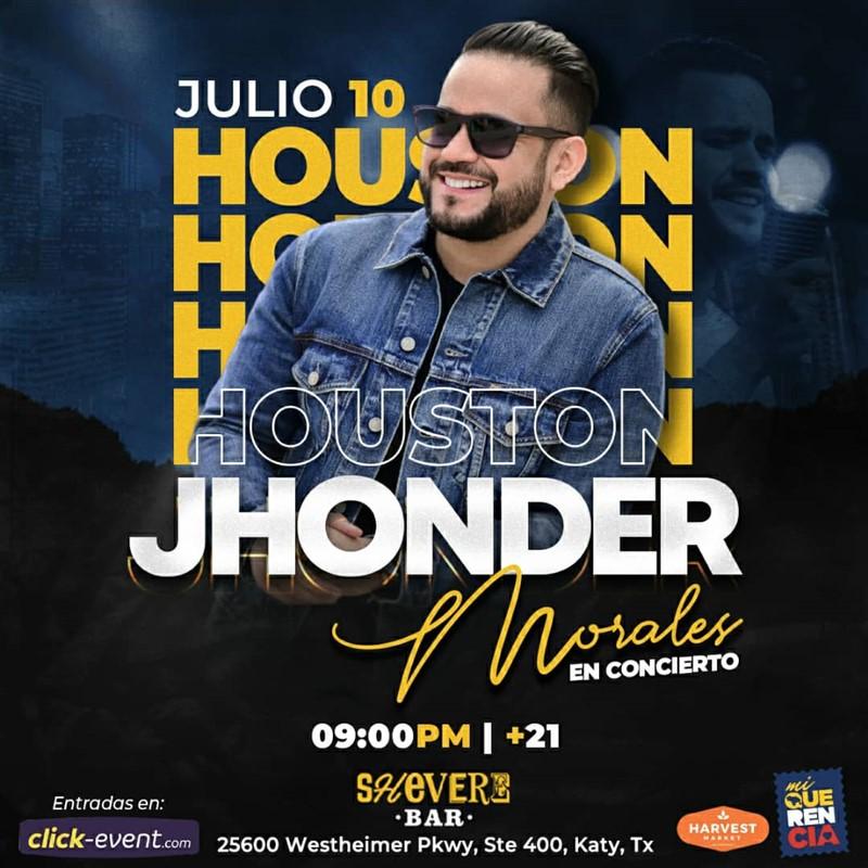 Jhonder Morales en Concierto - Houston TX