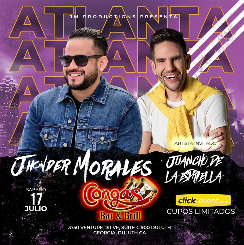 Get Information and buy tickets to Jhonder Morales en Concierto Atlanta GA Invitado especial Juancho De Le Espriella on www.click-event.com