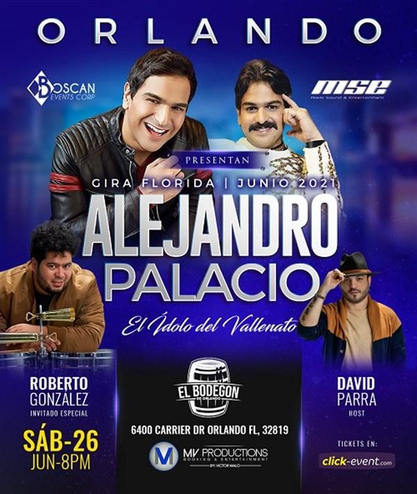 """Get Information and buy tickets to Alejandro Palacio """"El Idolo del Vallenato"""" - Orlando FL  on www.click-event.com"""