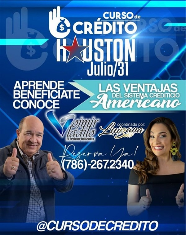 Get Information and buy tickets to Curso de Credito - Houston TX  on www.click-event.com