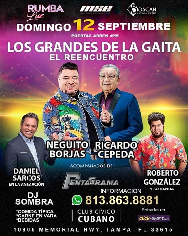 Los Grandes de la Gaita - Neguito Borjas, Ricardo Cepeda, Roberto González - Tampa FL