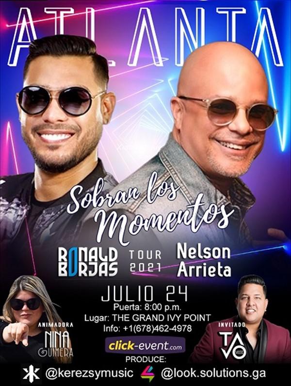 Get Information and buy tickets to Sobran los Momentos - Nelson Arrieta - Ronald Borjas - Atlanta GA  on www.click-event.com