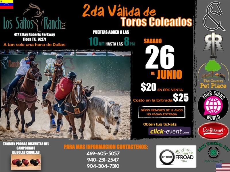 Get Information and buy tickets to Segunda Valida de Toros Coleados - Dallas TX  on www.click-event.com