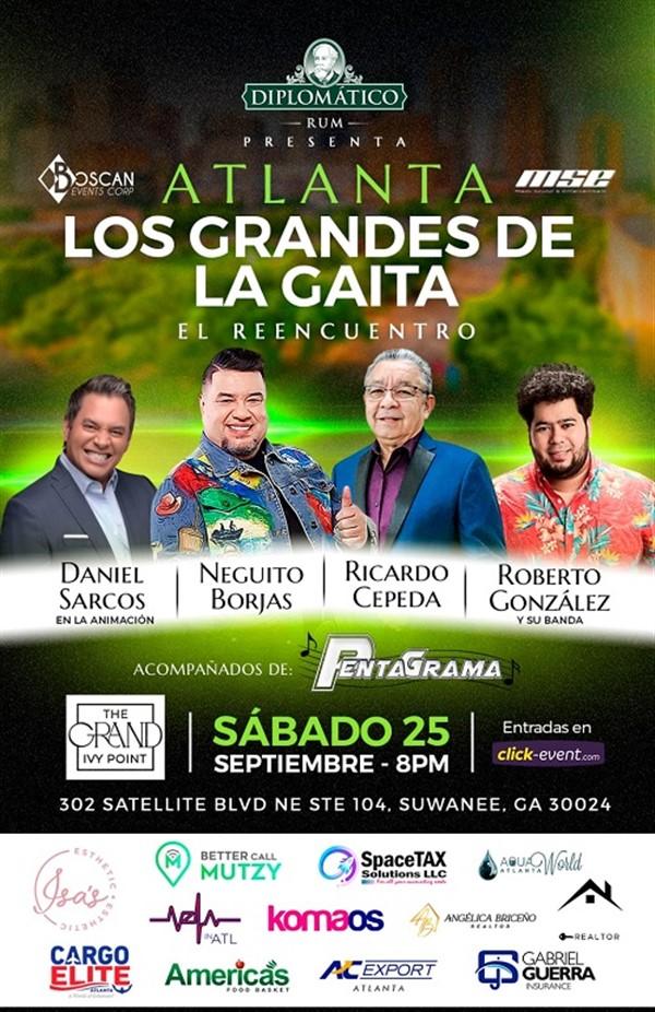 Los Grandes de la Gaita - Neguito Borjas, Ricardo Cepeda, Roberto González - Atlanta GA