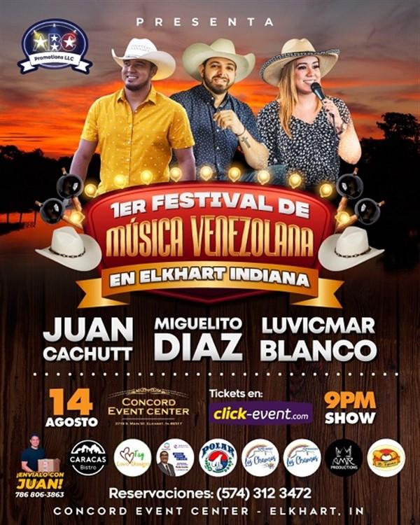 1er Festival de Música Venezolana - Juan Cachutt, Miguelito Diaz, Luvicmar Blanco - Elkhart Indiana