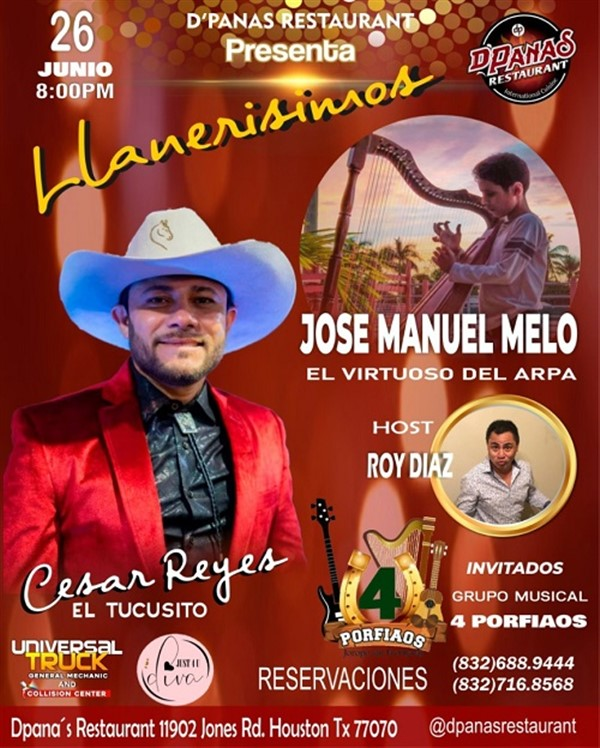 Get Information and buy tickets to Llanerisimos - Cesar Reyes Jose Manuel Melo - Houston TX  on www.click-event.com