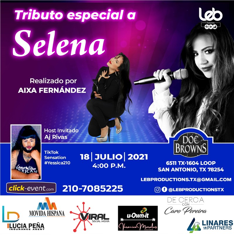 Get Information and buy tickets to Tributo especial a Selena - San Antonio  on www.click-event.com