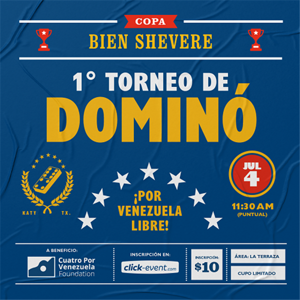 Get Information and buy tickets to 1er Torneo de Domino - Shevere Bar - Katy TX  on www.click-event.com