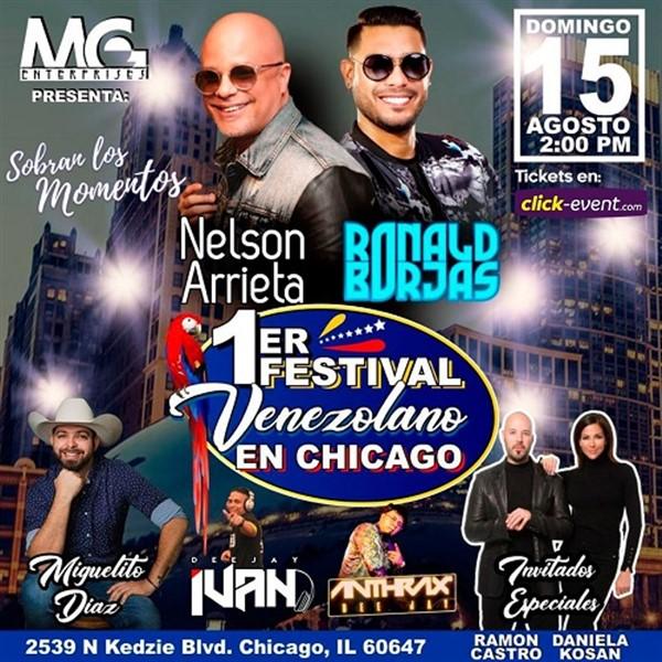 1er Festival Venezolano en Chicago - Nelson Arrieta, Ronald Borjas, Miguelito Diaz