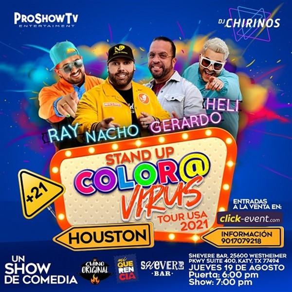 Stand Up de comedia  el COLOR@VIRUS Tour USA 2021 - Houston TX
