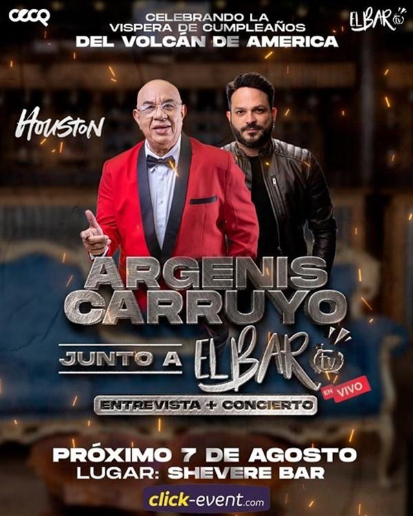 Argenis Carruyo junto a El Bar TV en vivo - Entrevista + Concierto - Houston TX
