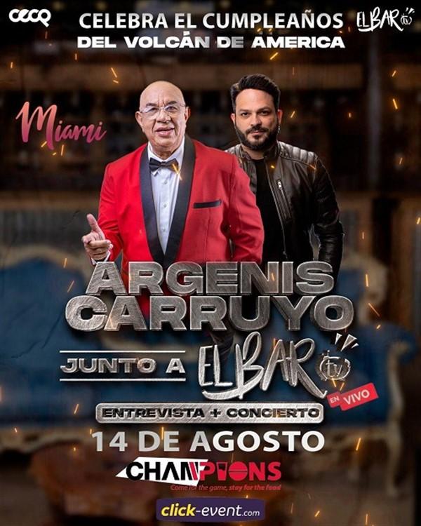 Argenis Carruyo junto a El Bar TV en vivo - Entrevista + Concierto - Miami FL