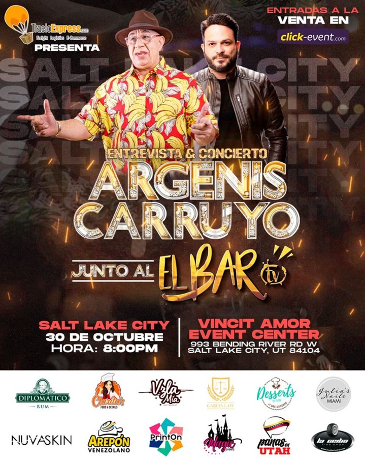 Argenis Carruyo junto a El Bar TV en vivo - Entrevista + Concierto - Salt Lake City UT
