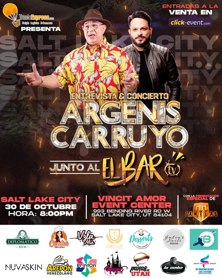 Get Information and buy tickets to Argenis Carruyo junto a El Bar TV en vivo - Entrevista + Concierto - Salt Lake City UT  on www.click-event.com