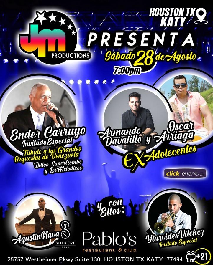 Ender Carruyo, Armando Davalillo, Oscar Arriaga Ex-Adolescentes - Houston TX