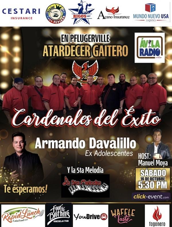 Atardecer Gaitero - Cardenales del Éxito - Armando Davalillo y La 5ta Melodía - Pflugerville TX