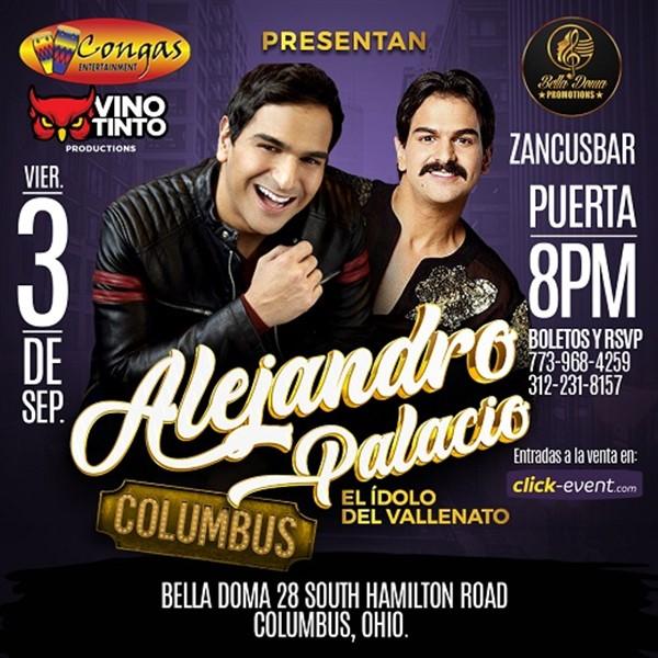 Get Information and buy tickets to Alejandro Palacio El Idolo del Vallenato - Columbus OH  on www.click-event.com