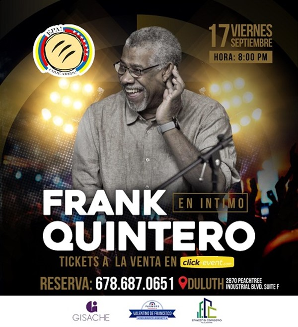 Get Information and buy tickets to Frank Quintero en Íntimo - Duluth GA  on www.click-event.com
