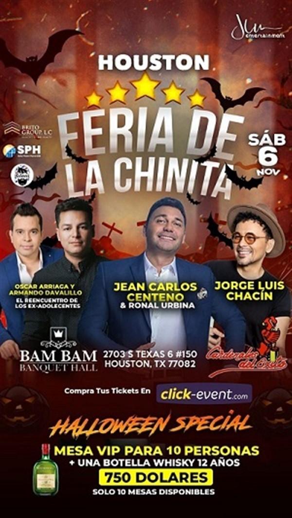 Get Information and buy tickets to Feria de la Chinita - Oscar Arreaga, Armando Davalillo, Jean Carlo Centeno, Jorge Luis Chacin, Cardenales del Exito - Houston TX  on www.click-event.com