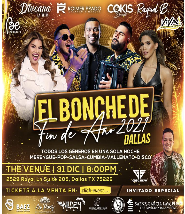 Bonche de Fin de Año - Dievana, Roimer Prado, Cokis Band, Raquel Bustamante - Dallas TX